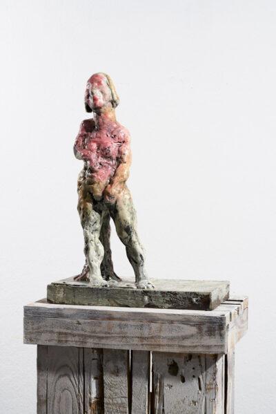 Markus Lüpertz, Sternzeichen – Jungfrau, Skulptur, 2018. Bronze, handbemalt, 51 x 37 x 20 cm, 30 arab. zzgl. 6 röm. Exemplare   Entdecken Sie die Tiekreiszeichen von Markus Lüpertz.
