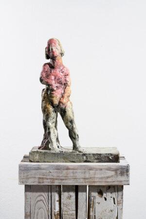 Markus Lüpertz, Sternzeichen – Jungfrau, Skulptur, 2018. Bronze, handbemalt, 51 x 37 x 20 cm, 30 arab. zzgl. 6 röm. Exemplare | Entdecken Sie die Tiekreiszeichen von Markus Lüpertz.