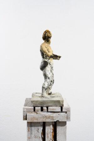 Markus Lüpertz, Sternzeichen – Waage, Skulptur, 2018. Bronze, handbemalt, 50 x 37 x 20 cm, 30 arab. zzgl. 6 röm. Exemplare   Entdecken Sie die Tiekreiszeichen von Markus Lüpertz.