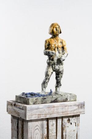 Markus Lüpertz, Sternzeichen – Skorpion, Skulptur, 2018. Bronze, handbemalt, 52 x 37 x 20 cm, 30 arab. zzgl. 6 röm. Exemplare   Entdecken Sie die Tiekreiszeichen von Markus Lüpertz