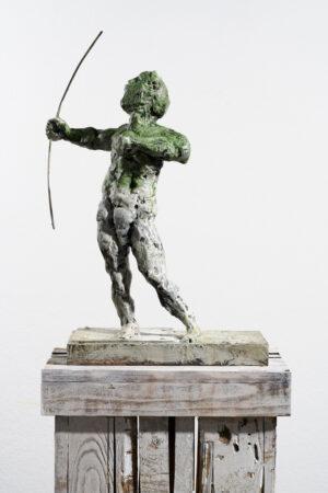 Markus Lüpertz, Sternzeichen – Schütze, Skulptur, 2018. Bronze, handbemalt, 53 x 37 x 20 cm, 30 arab. zzgl. 6 röm. Exemplare   Entdecken Sie die Tiekreiszeichen von Markus Lüpertz