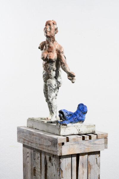 Markus Lüpertz, Sternzeichen – Fische, Skulptur, 2018. Bronze, handbemalt, 57 x 37 x 20 cm, 30 arab. zzgl. 6 röm. Exemplare   Entdecken Sie die Tiekreiszeichen von Markus Lüpertz