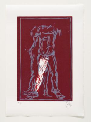 Markus Lüpertz, Sternzeichen – Zwillinge, 2018. Holzschnitt auf Bütten, 76 x 54 cm, 30 arab. zzgl. 6 röm. Exemplare   Entdecken Sie die Tiekreiszeichen von Markus Lüpertz