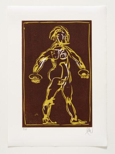 Markus Lüpertz, Sternzeichen – Waage, 2018. Holzschnitt auf Bütten, 76 x 54 cm, 30 arab. zzgl. 6 röm. Exemplare | Entdecken Sie die Tiekreiszeichen von Markus Lüpertz