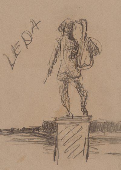 Künstlerbuch: Markus Lüpertz. Leda