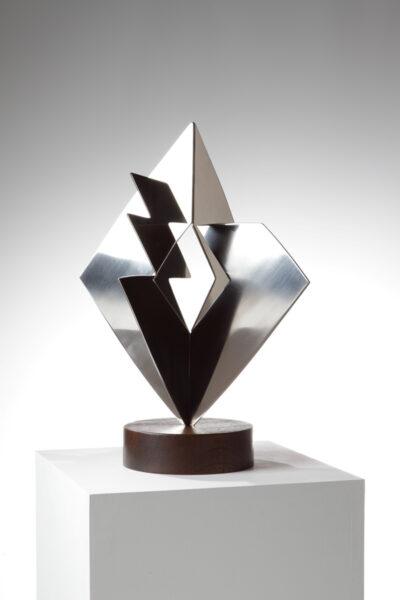 Heinz Mack Idee und Materie Edelstahl Skulptur 1990