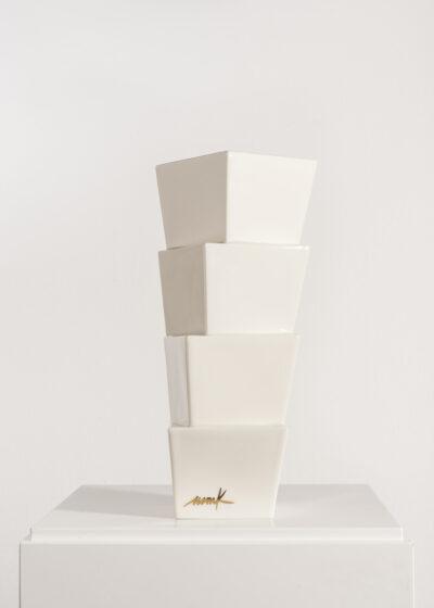 Heinz Mack Edition Nr. 1 Keramikskulptur weiß 1997