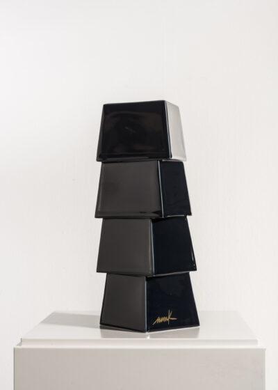 Heinz Mack Edition Nr. 1 Keramikskulptur schwarz 1997