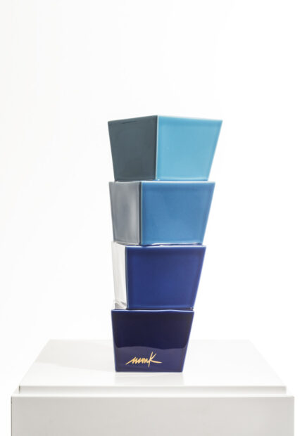 Heinz Mack Keramikskulptur blau