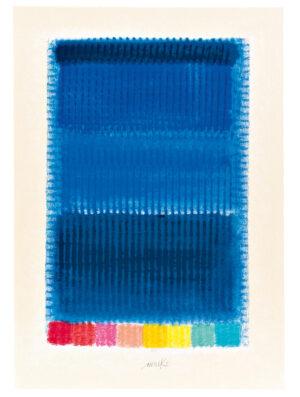Heinz Mack Blue Note Siebdruck 2013
