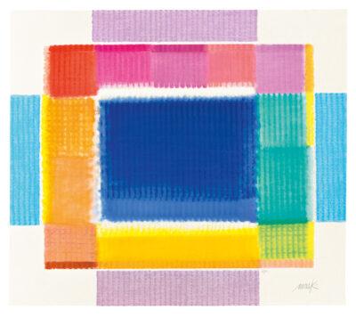 Heinz Mack Colour Frame Siebdruck 2015