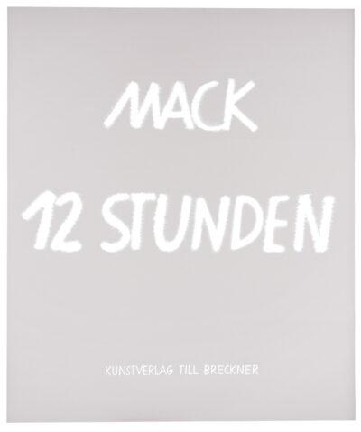 Heinz Mack 12 Stunden Siebdruck Grafikmappe 2016