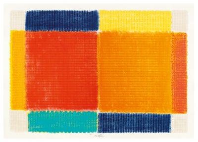 Heinz Mack, Die Temperatur der Farben (Querformat), 2017