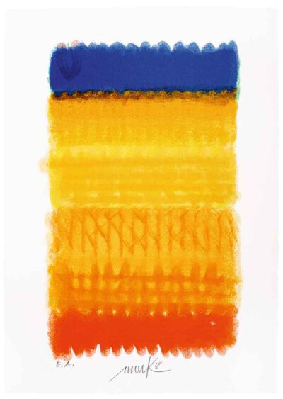 Heinz Mack Chromatik Rot-Gelb-Blau Siebdruck 2018