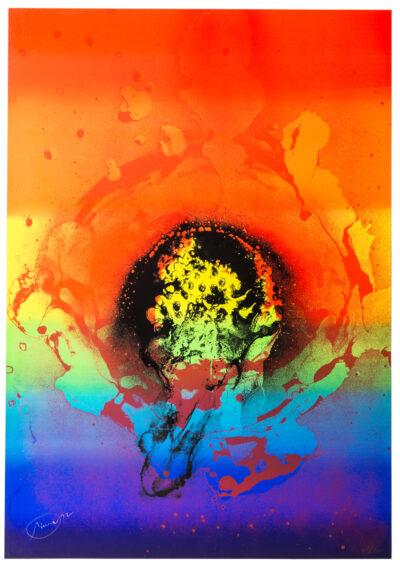 Otto Piene Schwarze Iris Serigrafie 1972
