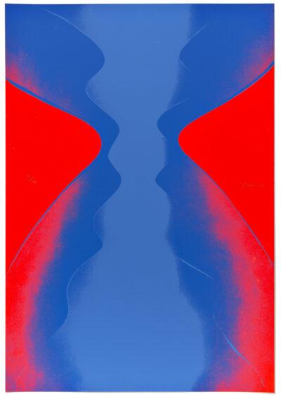 Otto Piene Ciel Rouge Ciel Bleu Serigrafie 1969