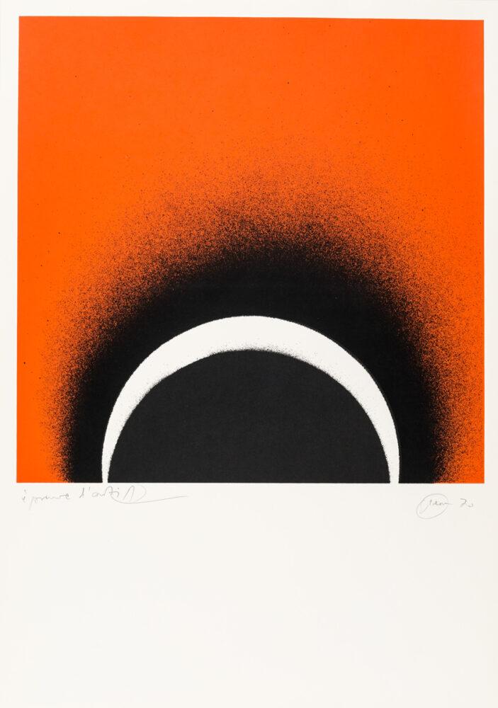 Otto Piene Lichtbogen Serigrafie 1970