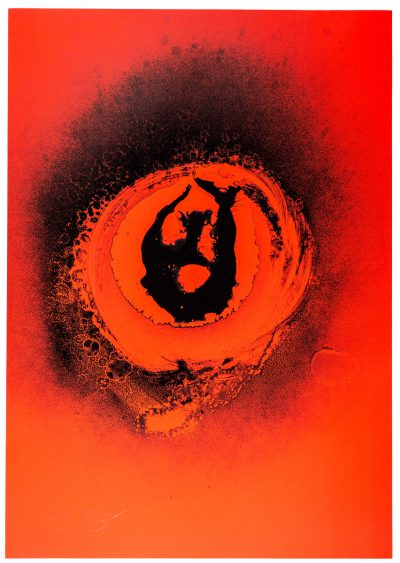 Otto Piene, Regular Red and Black, 1972