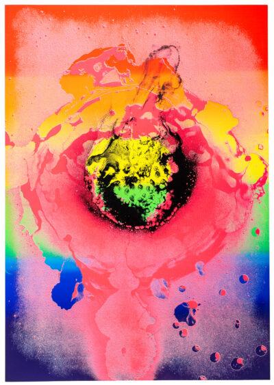 Otto Piene Nach dem Regenbogen Serigrafie 1972