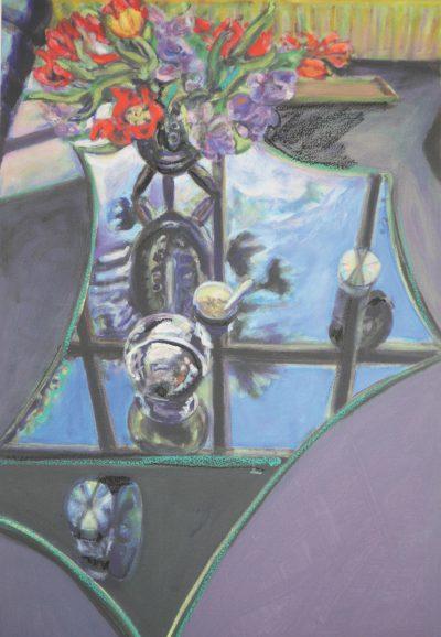 Norbert Tadeusz, o.T. (Glastisch mit Blumen II), 1998