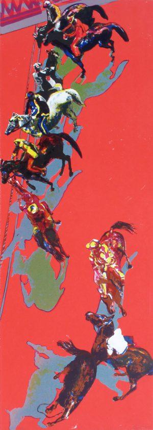 Norbert Tadeusz, o.T. (Pferde in Rot), 1998