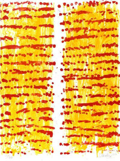Günther Uecker Beet Lithografie 2014