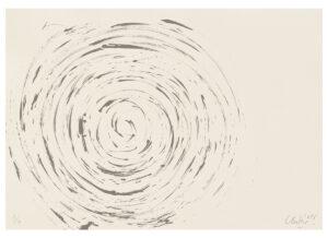 Günther Uecker Huldigung an Hafez Motiv 01 Siebdruck 2015
