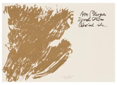 Günther Uecker Huldigung an Hafez Motiv 03 Sanddruck 2015