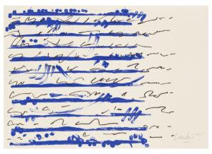 Günther Uecker Huldigung an Hafez Motiv 05 Siebdruck 2015