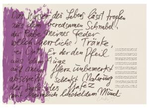 Günther Uecker Huldigung an Hafez Motiv 10 Siebdruck 2015