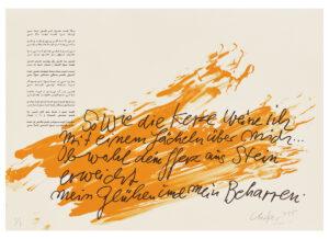 Günther Uecker Huldigung an Hafez Motiv 14 Siebdruck 2015