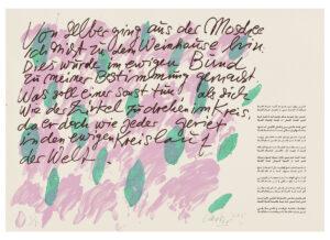 Günther Uecker Huldigung an Hafez Motiv 29 Siebdruck 2015