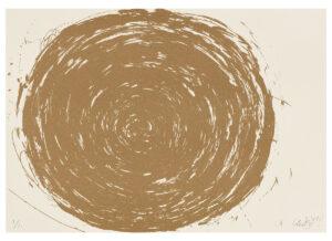 Günther Uecker Huldigung an Hafez Motiv 30 Sanddruck 2015