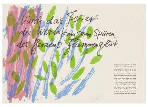 Günther Uecker Huldigung an Hafez Motiv 35 Siebdruck 2015