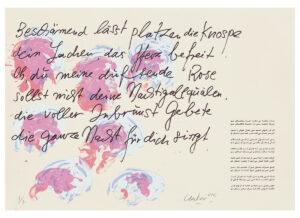 Günther Uecker Huldigung an Hafez Motiv 37 Siebdruck 2015