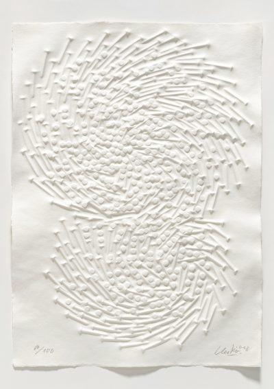 Günther Uecker, Ohne Titel (Doppelspirale), 2018