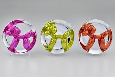 Jeff Koons, Balloon Dog (Magenta), Balloon Dog (Yellow), Balloon Dogs (Set Magenta, Yellow, Orange), 2015 © Jeff Koons