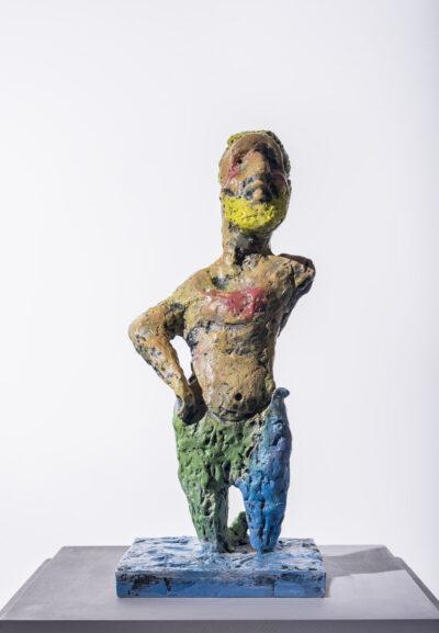 Markus Lüpertz, Neptun, Skulptur, 2015. Bronze, handbemalt, 45 x 20 x 20 cm, 45 Exemplare zzgl. e.a.
