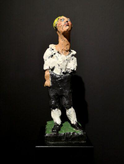 Markus Lüpertz, Mozart, Skulptur, 2019. Bronze, handbemalt, 47 x 14,5 x 14,5 cm, 35 Exemplare zzgl. e.a. | Entdecken Sie die Kunst von Markus Lüpertz