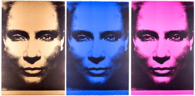 DIE SONNE UM MITTERNACHT SCHAUEN 7A/III/196/1973, monocrome-gold, monocrome-blue, monocrome-pink, 2015