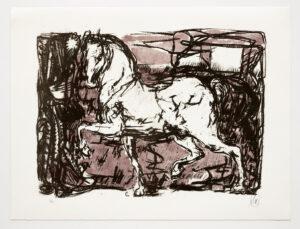 Markus Lüpertz, Troja (Motiv 1), 2019, aus einer Serie von 5 Farblithografien, Motiv: 50 x 70 cm, Blatt: 61,3 x 81 cm, 20 arab. num., sign. Exemplare
