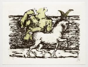 Markus Lüpertz, Troja (Motiv 2), 2019, aus einer Serie von 5 Farblithografien, Motiv: 50 x 70 cm, Blatt: 61,3 x 81 cm, 20 arab. num., sign. Exemplare