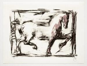 Markus Lüpertz, Troja (Motiv 3), 2019, aus einer Serie von 5 Farblithografien, Motiv: 50 x 70 cm, Blatt: 61,3 x 81 cm, 20 arab. num., sign. Exemplare