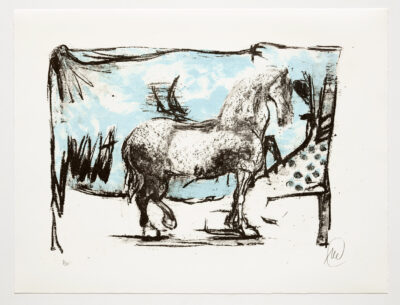 Markus Lüpertz, Troja (Motiv 4), 2019, aus einer Serie von 5 Farblithografien, Motiv: 50 x 70 cm, Blatt: 61,3 x 81 cm, 20 arab. num., sign. Exemplare