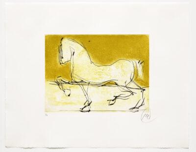 Markus Lüpertz, Troja (Motiv 6), 2019, aus einer Serie von 4 Kaltnadelradierungen, Motiv: 30 x 40 cm, Blatt: 56 x 69,5 cm, 20 arab. num., sign. Exemplare