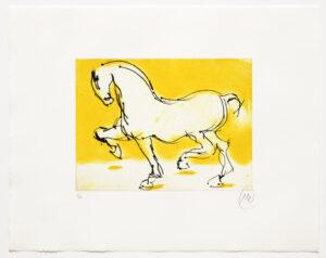 Markus Lüpertz, Troja (Motiv 7), 2019, aus einer Serie von 4 Kaltnadelradierungen, Motiv: 30 x 40 cm, Blatt: 56 x 69,5 cm, 20 arab. num., sign. Exemplare