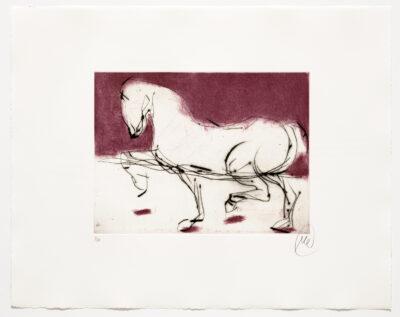 Markus Lüpertz, Troja (Motiv 8), 2019, aus einer Serie von 4 Kaltnadelradierungen, Motiv: 30 x 40 cm, Blatt: 56 x 69,5 cm, 20 arab. num., sign. Exemplare