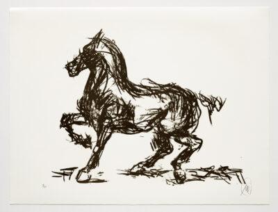 Markus Lüpertz, Troja (Motiv 10), 2019, aus einer Serie von 6 Lithografien, Motiv: 50 x 70 cm, Blatt: 61,3 x 81 cm, 20 arab. num., sign. Exemplare