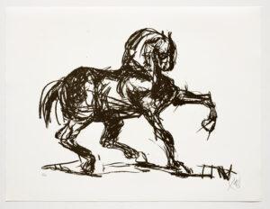 Markus Lüpertz, Troja (Motiv 11), 2019, aus einer Serie von 6 Lithografien, Motiv: 50 x 70 cm, Blatt: 61,3 x 81 cm, 20 arab. num., sign. Exemplare
