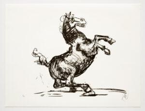 Markus Lüpertz, Troja (Motiv 12), 2019, aus einer Serie von 6 Lithografien, Motiv: 50 x 70 cm, Blatt: 61,3 x 81 cm, 20 arab. num., sign. Exemplare